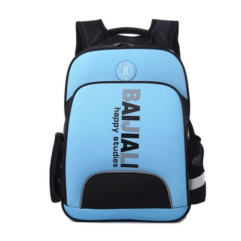 dark blue high quality children orthopedic backpacks boy waterproof bag boys school bags kids backpack bookbag girl schoolbag