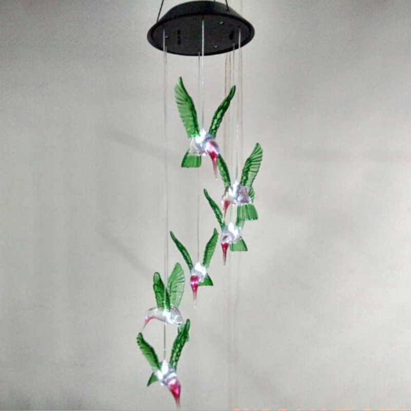 LED Hummingbird Wind Chime