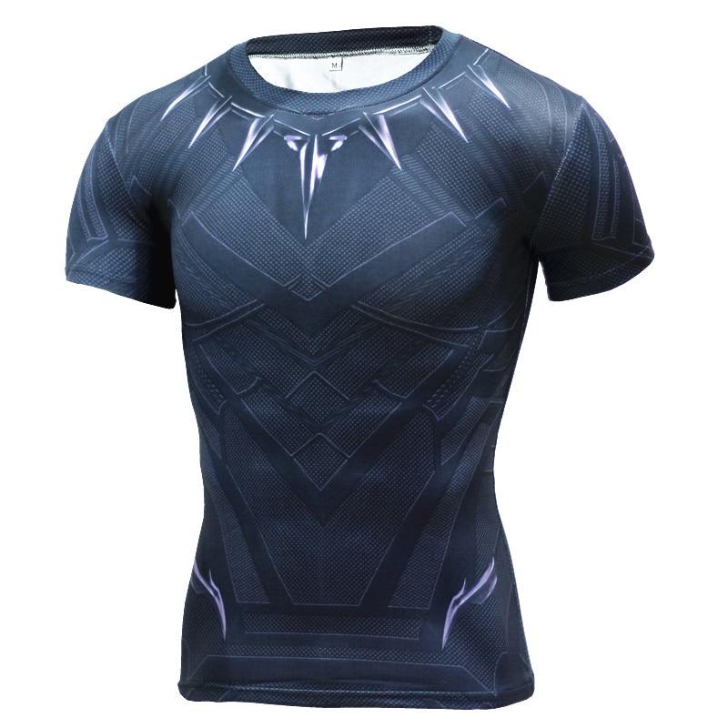 Black Panther T Shirt Captain America 3 Superhero Winter Soldier 3D Printed T-shirts Fitness Men Workout  Compression Shirt