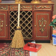G06-X721 children baby gift Toy 1:12 Dollhouse mini Furniture Miniature rement Broom and dustpan set
