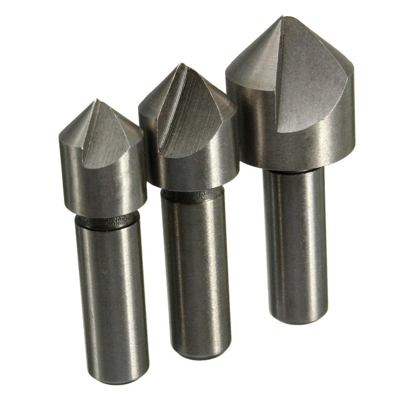 High Speed Steel Countersink 3pcs / Set Steel Drill Hard Drill Metal 10mm 12mm 16mm Power Tools Woodworking Countersink
