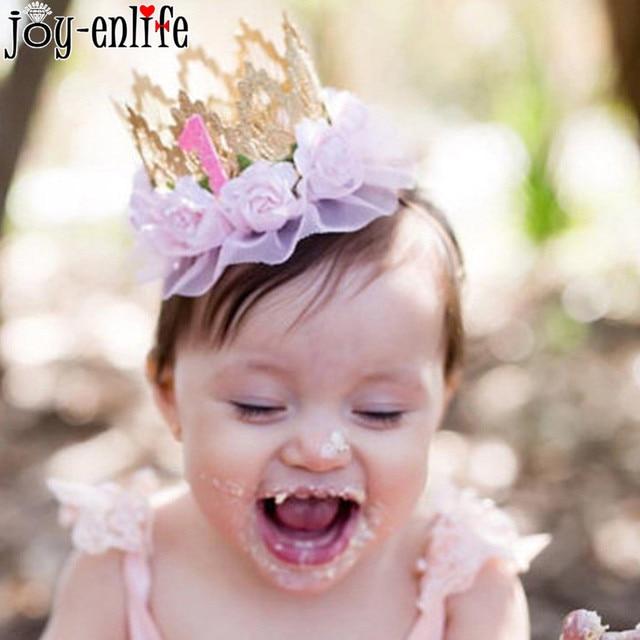Joy Enlife 1pcs Lace Flower Baby Girl Headband Lace Crown Headdress