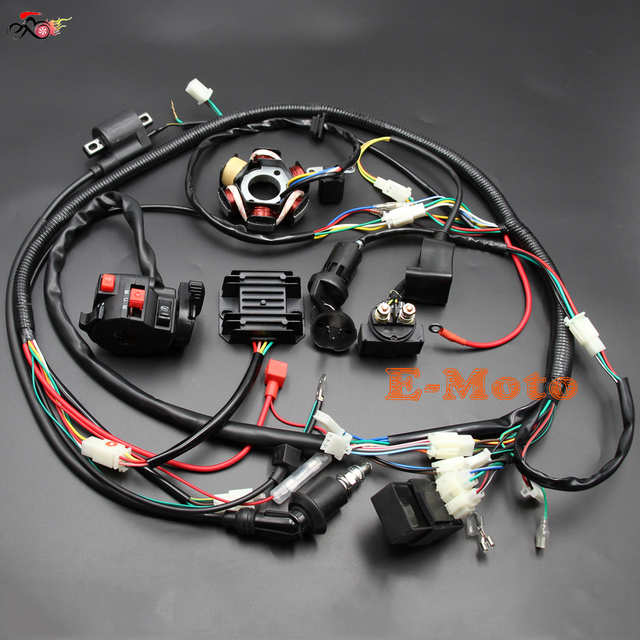 GY6 125cc 150cc ELECTRICS Stator Wire Harness Loom Magneto Coil ...