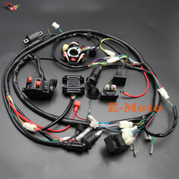 GY6 125cc 150cc ELECTRICS Stator Wire Harness Loom Magneto Coil CDI Rectifier Solenoid Spark Plug Switch New E Moto