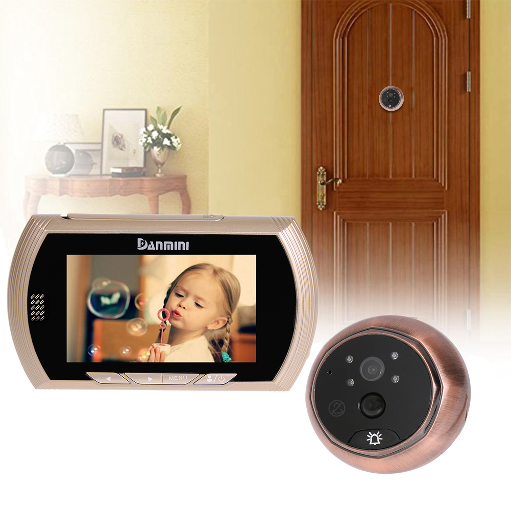 Professional 4.3inch TFT Color Screen Door Viewer 160 Degree with No Disturb+Night Vision+Motion Detection Digtial Doorbell #LO