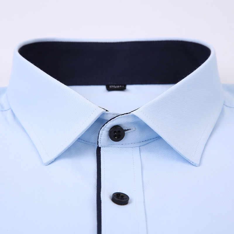 2019 新カジュアル男性の半袖シャツスリムフィットデザインスタイル男性社会ビジネスドレスシャツ高品質の衣料品 4XL