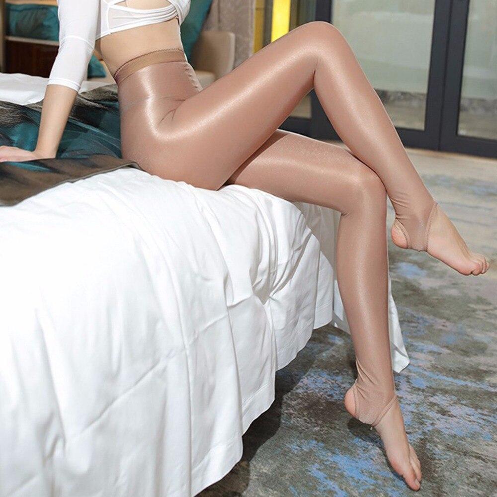 100D Women Ballet Dance Tights Sexy Oil Shiny Pantyhose Slim Strumpfhose Glitter Collant Femme Pantimedias Mujer Collants