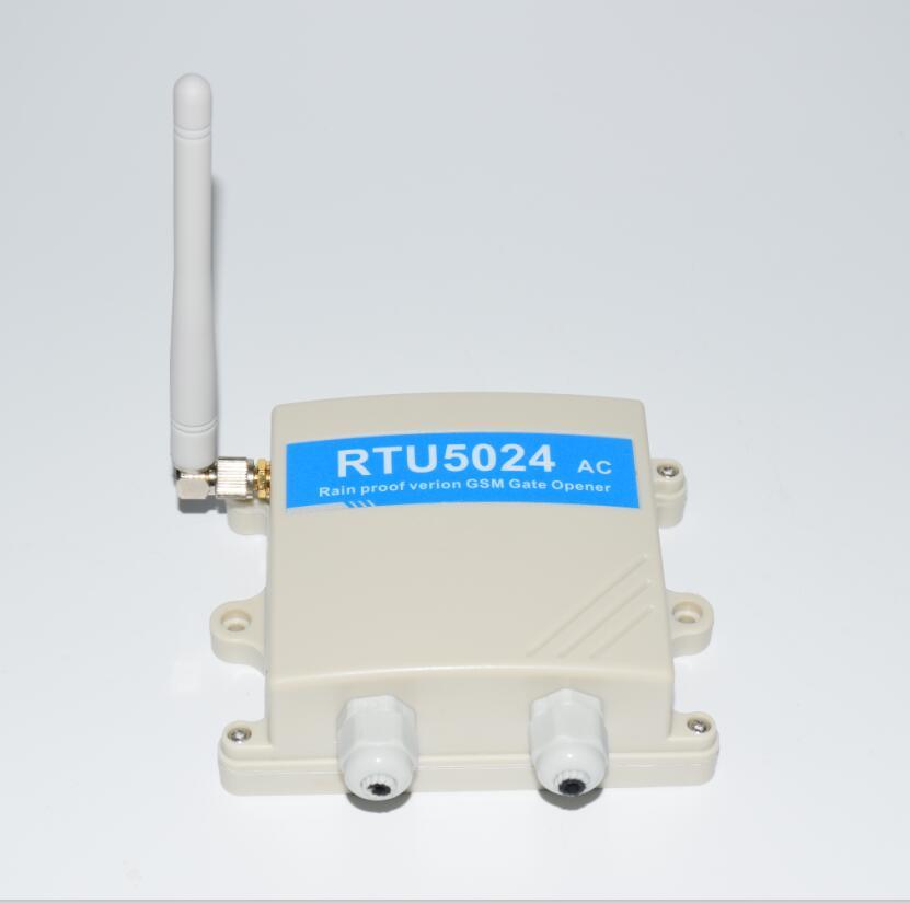 Regen proof 220 V AC RTU5024 GSM Gate Deuropener GSM Relais Remote Switch Toegangscontrole Gratis Call Home Security