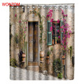 WONZOM Blume Haus Duschvorhänge mit 12 Haken Für Badezimmer Dekor Modernes Bad Wasserdichte Vorhang Neue Bad accessoires|shower curtain|curtains shower curtainscurtain shower -
