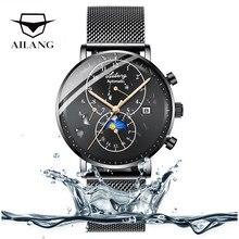 82ede0cca620 La parte superior de la marca de lujo de cristal de zafiro de los hombres  relojes de cuerda automática bucle Relojes swiss gear .