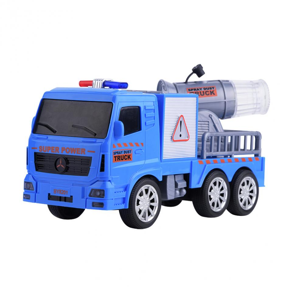High Quality Trunk Toy Blue Mini Sensor Truck Spray Water Car Model Toy Early Learning Funny Toys Kids Gift