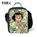 FORUDESIGNS New Cute Bag Muliti-styles Lunch Bag For Kids School Boys Girls Thermal Lunch Bags For Kids Children Gifts