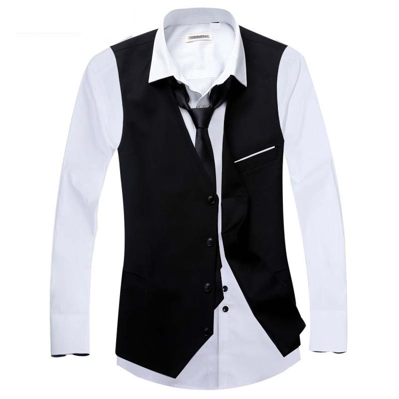 Casual-Slim-Suits-Vests-Mens-Waistcoats-Fitted-Colete-Sleeveless-Jacket-Formal-Dressed-Wedding-Blazer-Vest-Brand