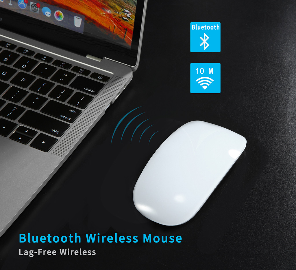 Cheap Price] CHUYI Bluetooth Wireless Arc Touch Mouse 1200DPI