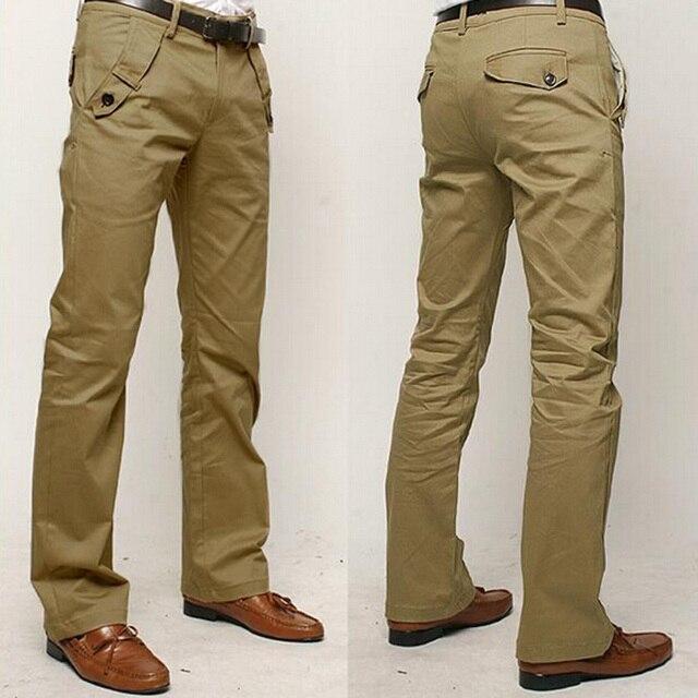 2017 Hot Sale New Style High Quality Men Pants Cotton Solid Color Pants Casual Slim Pants Men Trousers Size 28~36 13M0443