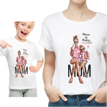 Mothers Day Gift Mom/Daughter White Tshirt Parent-child Clothes Super Mom Lovely Short Sleeve Kid MOM Girl T shirt Tees,HKP3093