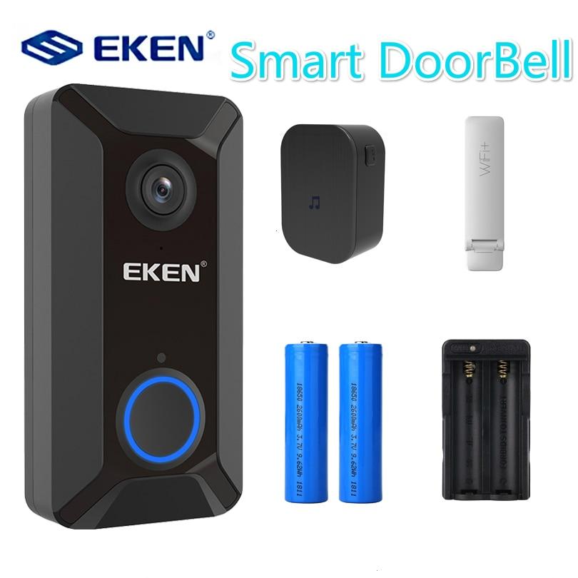V6 Smart Wireless 720P Wifi Video Doorbell Camera Cloud Storage Door Bell Cam Waterproof Home Security House Bell