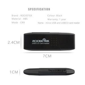 Image 2 - Rocketek usb 3,0 multi 2 en 1 OTG teléfono lector de Tarjeta 5 Gbps adaptador para SD TF micro SD ordenador portátil pc Accesorios