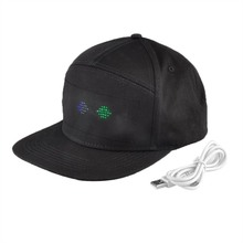 LED Hat For Party Bluetooth LED Hat Programmable Scrolling Message Display Board Baseball Cap Self-editing Cap Dropshipping