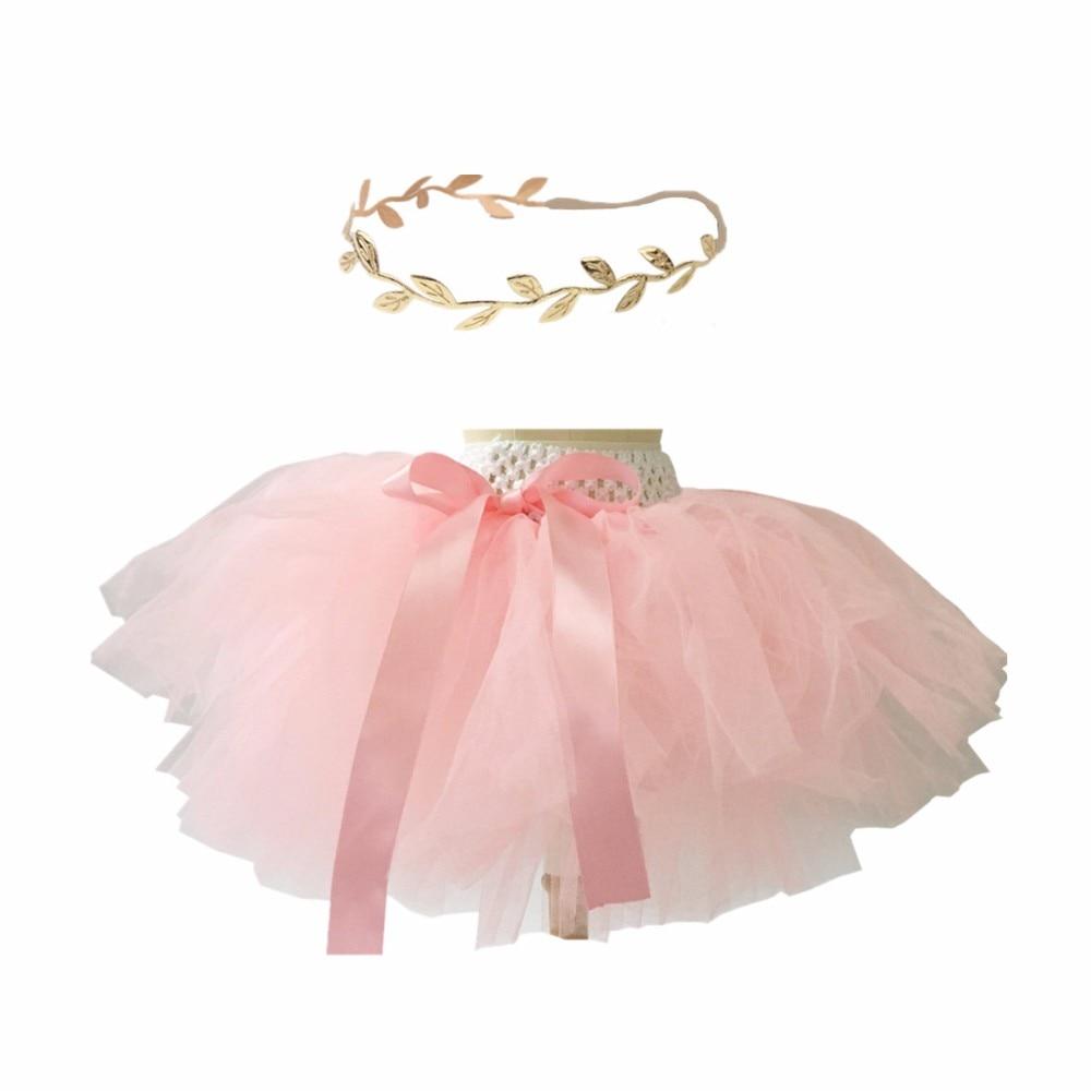 Bbwowlin Baby Girls Fluffy Pink Tutu Skirts With Gold