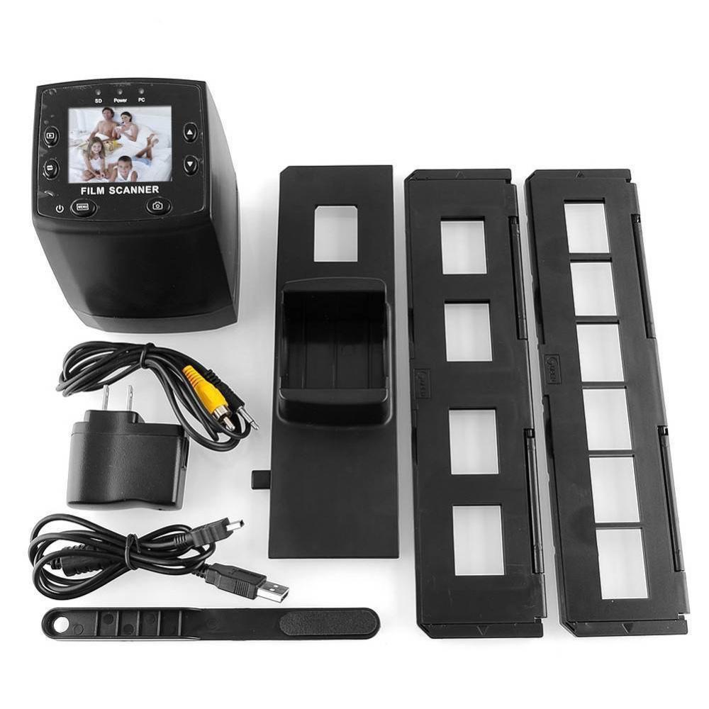 Film Scanner 2.4 TFT LCD High Resolution Negative Film Slide Viewer Scanner Photo Copier Digital Film Converter