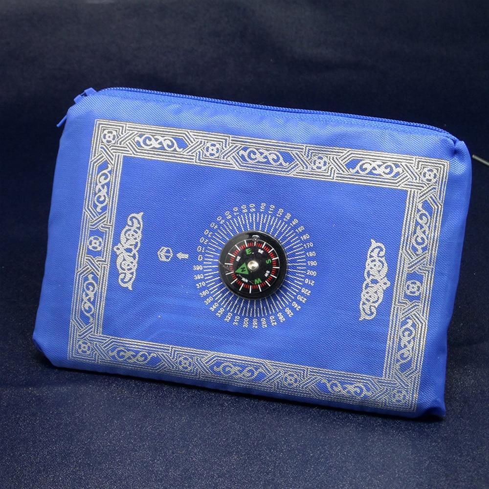4 цвета молитвенный коврик мусульманский молитвенный коврик с компасом Портативный прочный молитвенный коврик Карманный молитвенный коврик
