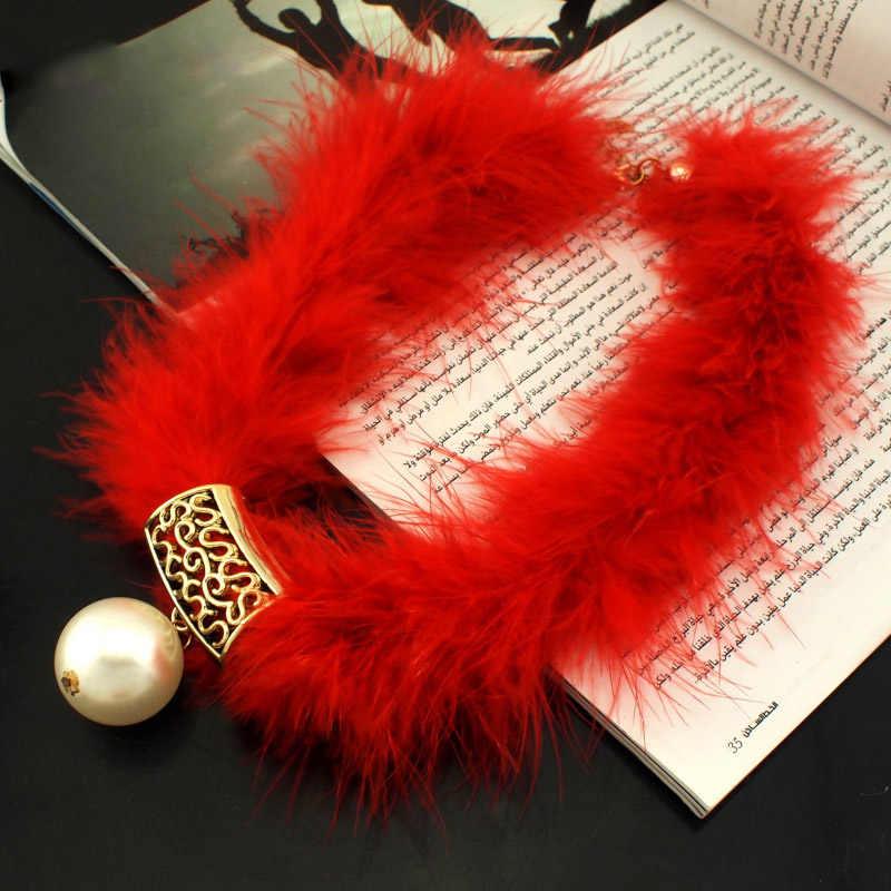 MANILAI Mulheres Pena Corda Artesanal Colar Gargantilhas Colarinho Moda imitação de Pérolas Colares & Pingentes Declaração de Jóias