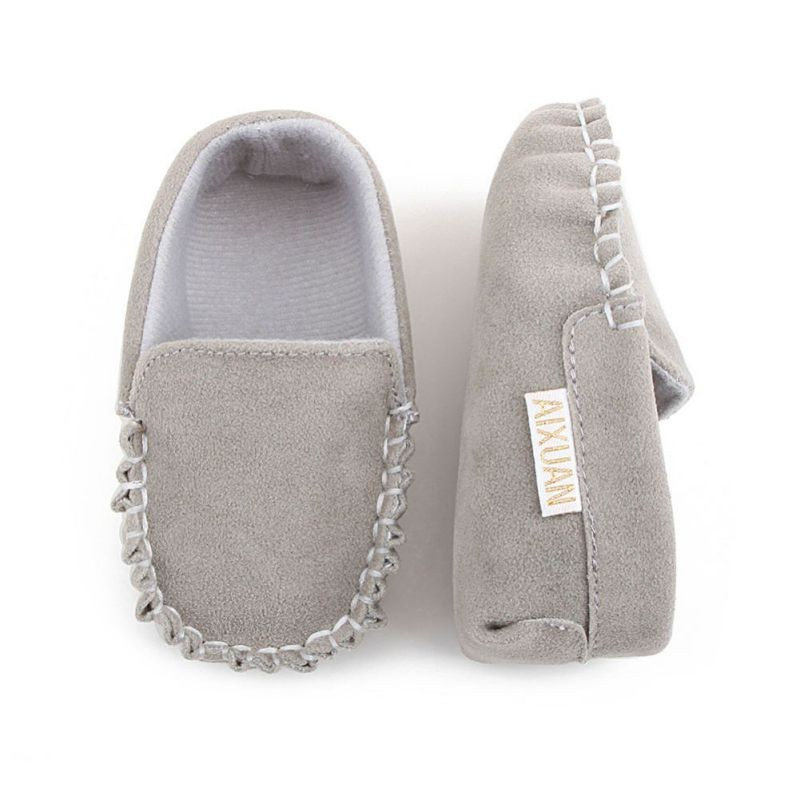 2020 New Hot Sale PU Suede Leather Newborn Baby Boy Girl Baby Moccasins Soft Moccs Shoes Soft Soled Non-slip Footwear Crib Shoe