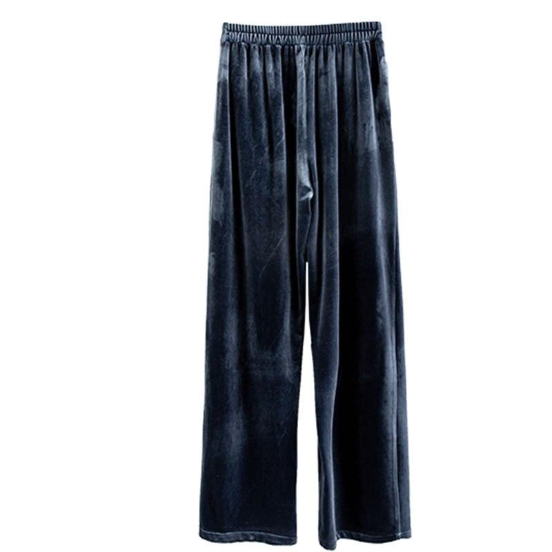 Elastique Ample Femmes Blue Mode xitao Printemps Pantalon Nouveauté Femelle 2019 Décontracté Dll2613 Droite Europe Taille Solide Couleur YY7agB