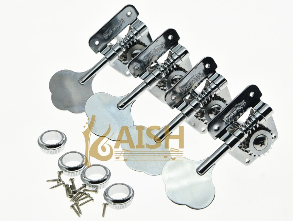 wilkinson 4 left handed bass tuners wjbl 200 tuning keys machine heads chrome in guitar parts. Black Bedroom Furniture Sets. Home Design Ideas