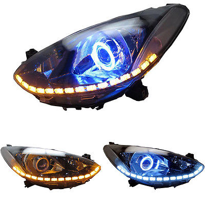 Xenon Headlight For Mazda 2 2011-14 With White Angel Eye HALO And Blue demon Eye почтовый лист физики и астрономы 14 2 марки республика мали 2011 год