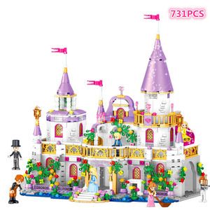 Image 2 - New  Friends  Windsors Castle And Carriage DIY Model Building Blocks Kit Toys Girl Birthday  Christmas Gifts