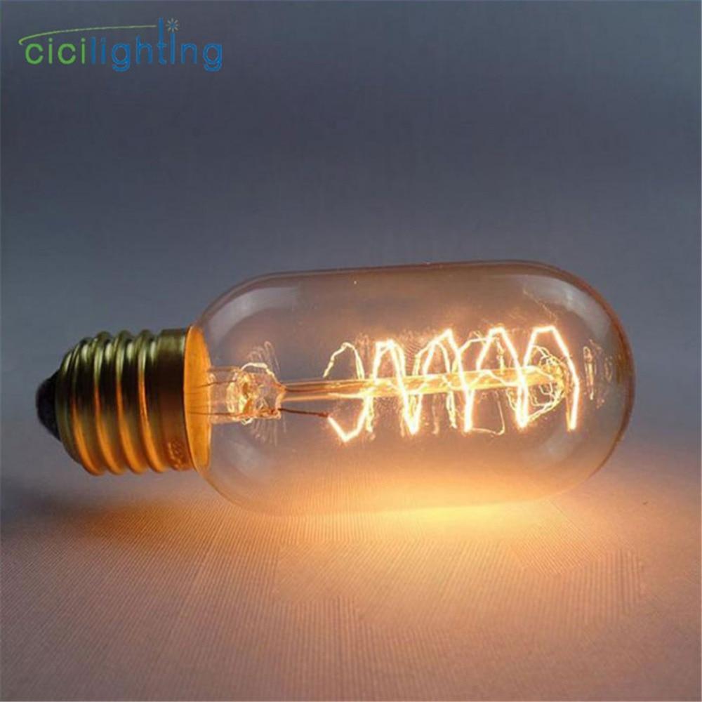 T45 Spiral Edison Bulb lampada Retro lamp 220V E27 ampoule vintage Incandescent Lamp edison Bulb For decor filament Light bulb