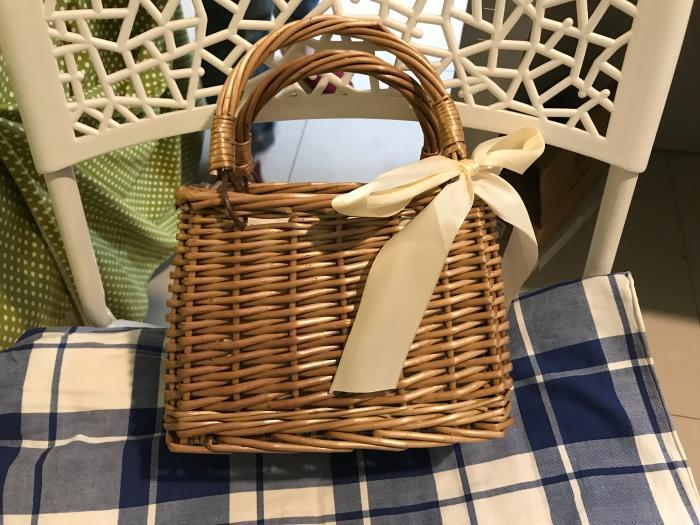 Straw Rattan Beach Basket Handbag