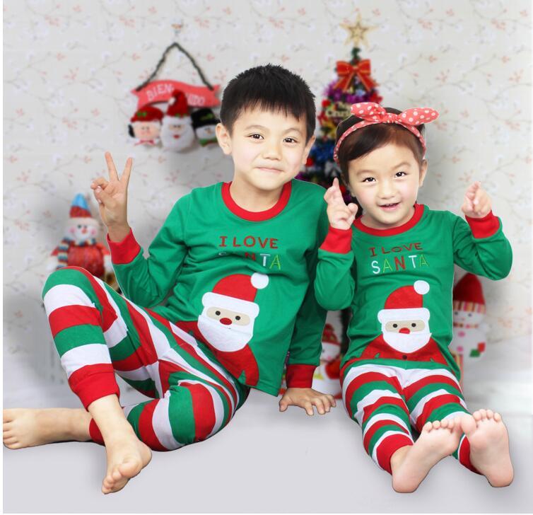 2017 autumn winter brand girls boys christmas pajamas sets toddler baby cotton outfit pyjamas kids clothes sleepwear costume