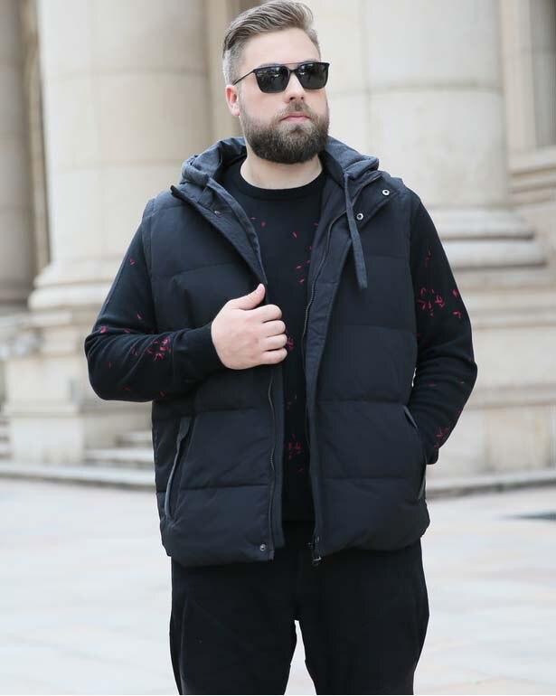 2019 hiver hommes duvet de canard gilet manteau avec une capuche chapeau sans manches parkas veste pour homme noir xxxxxxxxxxl 6xl 7xl 8xl 9xl 10xl
