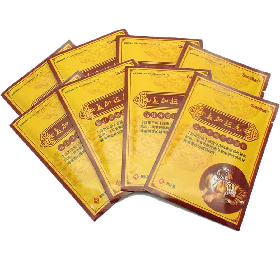 64Pcs/8Bags Chinese Herbal Patches Plaster Neck Body Massager Meridians Pain Relief Patch Arthritis Ointment for Joints K00208 sumifun 100% original 19 4g red white tiger balm ointment thailand painkiller ointment muscle pain relief ointment soothe itch