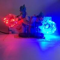Newest Creative Dragon Ball Son Goku and Vegeta Bombs Luminaria Led Color Night Light Holiday Gift Room Decorative Led Lamp