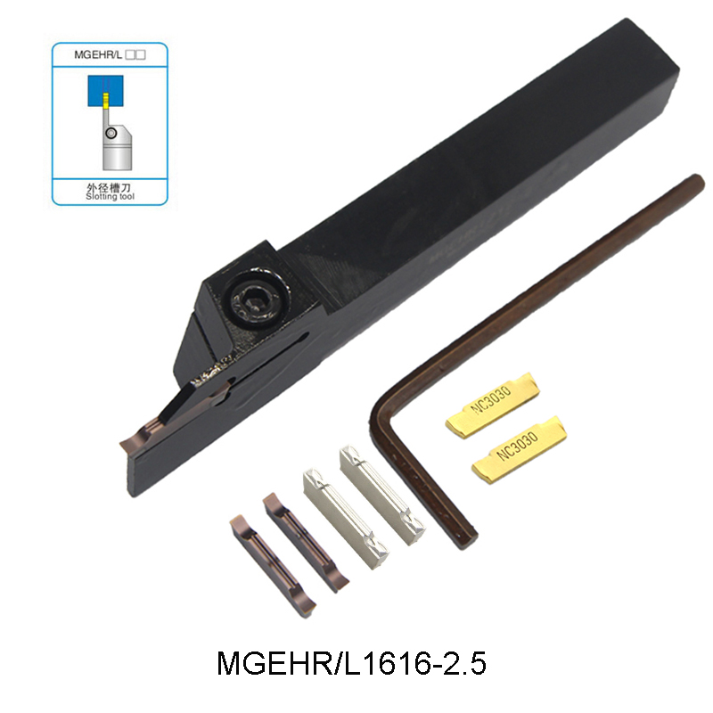 MGEHR1616-2.5 MGEHL1616-2.5 MGEHR 1616 2.5 Extermal Grooving Turning Tool Slotting Tool For MGMN250 MGMN 250 Inserts