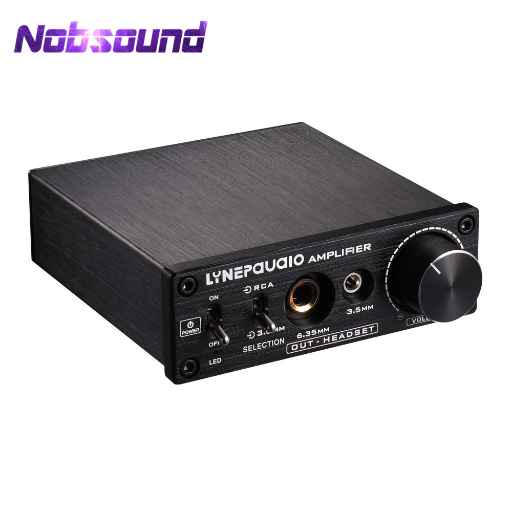 Nobsound Pre-stage Stereo Signal Magnifier AV 2-IN-3-Out Headphone Amplifier HiFi Audio 1 in 4 out audio sound signal amplifier hifi 4 channel loudspeaker stereo headphone amp linep a908