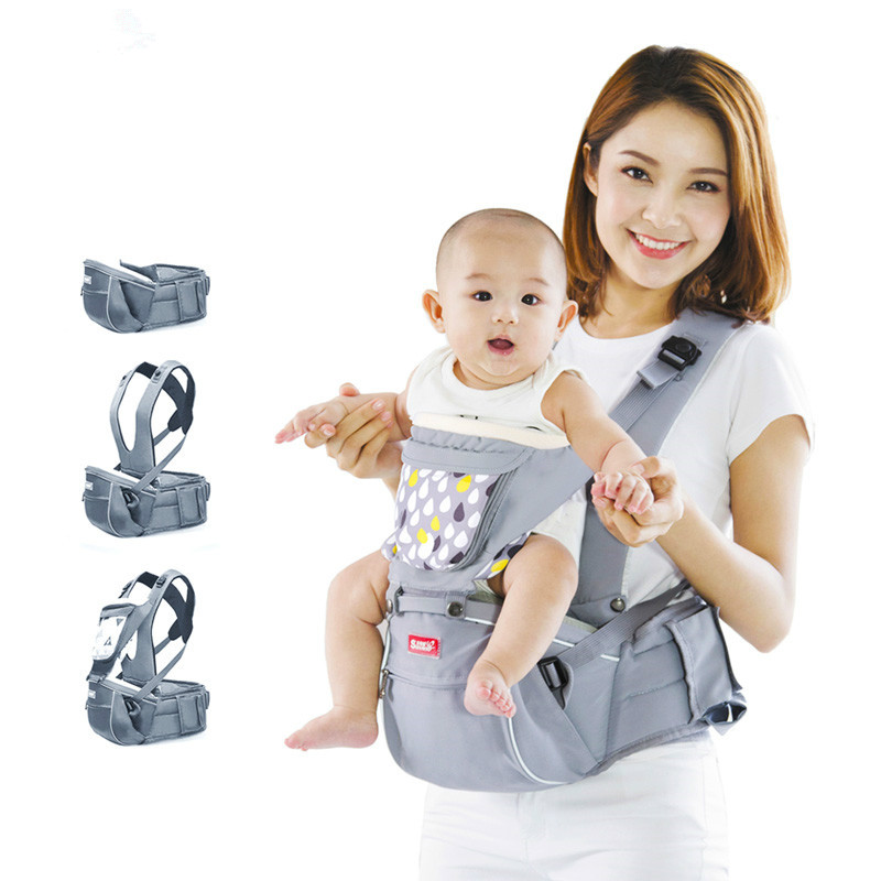 SUNVENO Designer Ergonomic Baby Carrier Infant Infact Baby Carrier Sling Front Facing Kids Kangaroo Hipseat Baby Care 0-36Months brand ergonomic baby carrier breathable front facing infant baby sling backpack pouch wrap baby kangaroo for baby newborn sling