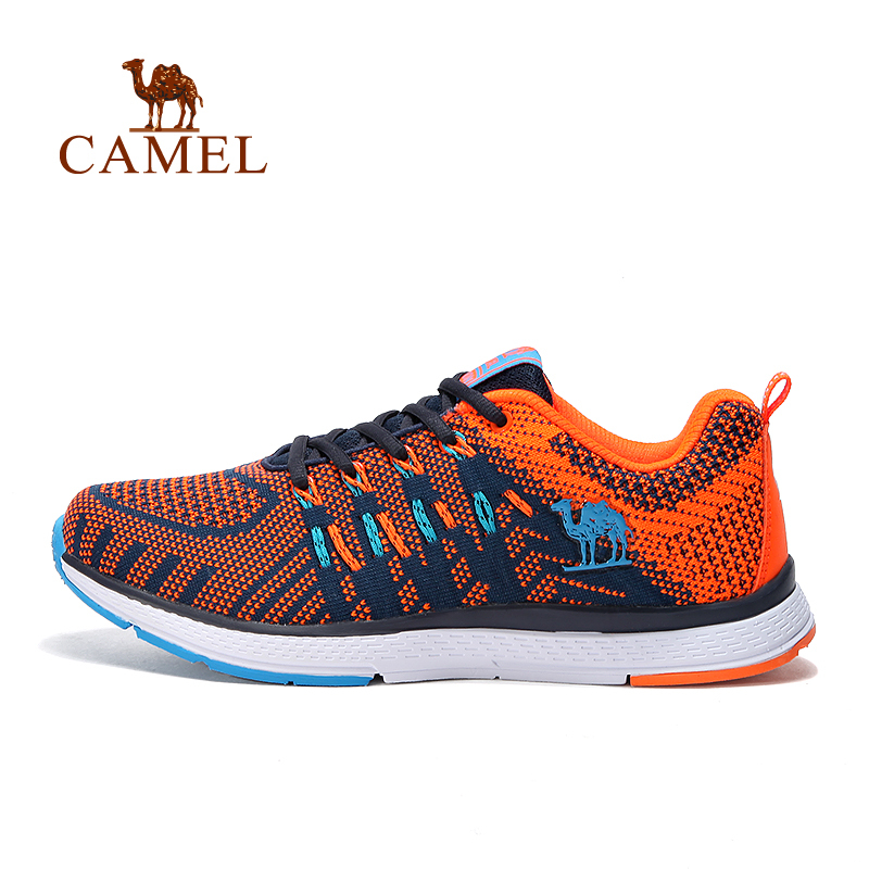 CAMEL Men's Summer Lace Up Multi colors Running Shoes Quality Comfortable Light Breathable Mesh Outdoor Sports Walking Sneakers