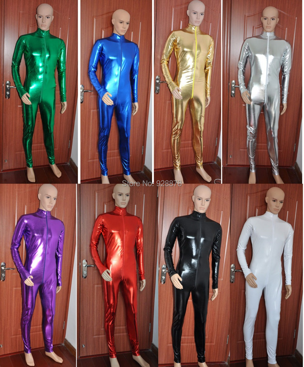 Free P&P Halloween Party Lycra spandex zentai costume Unisex shiny Metallic catsuits front zipper ,AAK Back Zip, XS/S/M/L/XL/XXL - Online Store 928878 store