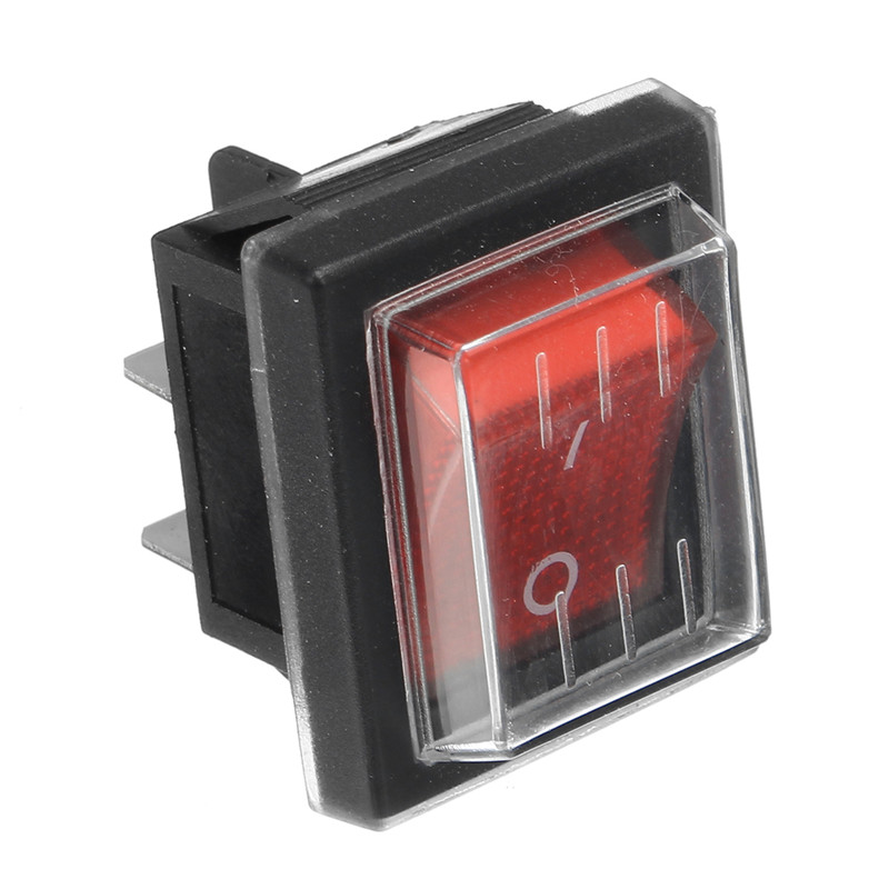 Cleaning Appliance Parts Home Appliance Parts 1pc 36*29mm 250v Spst 4 Pin Waterproof Boat Rocker Switch For Industrial Vacuum Cleaners With Waterproof Cover