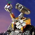 16003 Робот ВАЛЛ-И Идея 687 шт. Смешные Кирпичи Строительные Блоки детских Развивающих Игрушек Для Мальчиков Индукционный Нагреватель Игры 3D