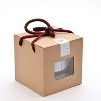 Kraft Paper Box For Tea Honey Cosmetics Soap Paper Storage Gift Package with holder in 10PCS/50PCS Free Shipping