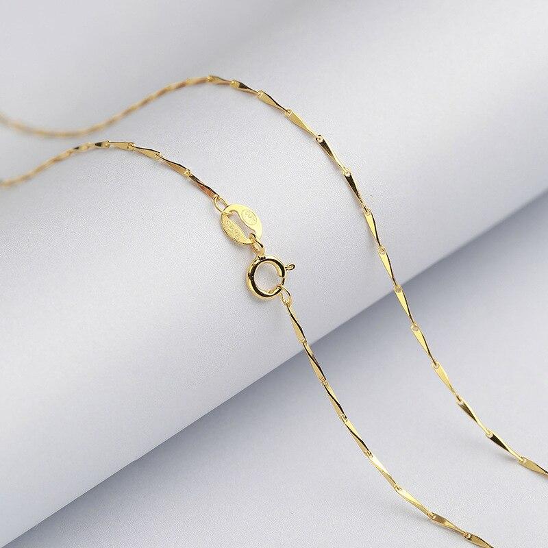 Argent Sterling 925 Italie Italien Solide Câble Collier Pendentif Chaîne 1.5 Mm