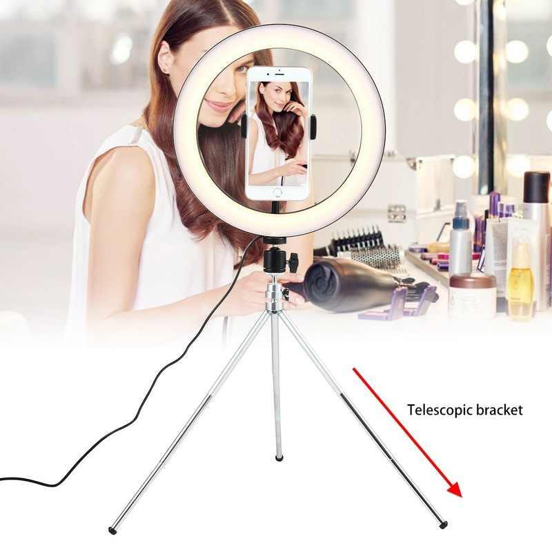 Dimmable Led Lighting Photography Vlogging Light 12Cm Led Selfie Ring Light Fill Light For Dslr Camera Photo Studio Video Shooting