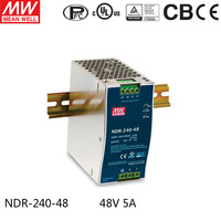 MEAN WELL NDR 240 48 Single Output 240W 48V 5A Industrial DIN Rail Mounted Meanwell Power Supply
