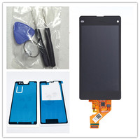 JIEYER Black LCD Display Touch Screen Digitizer Glass Assembly For Sony Xperia Z1 Mini Compact D5503